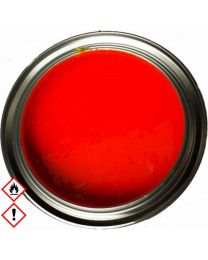 Leuchthellrot RAL 3026 Tagesleuchtfarbe  Neonhellrot Neonfarbe 1.5 kg inkl. Härter MS25